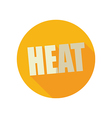 Heat flat icon Summer Vacation vector image vector image