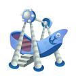 icon ship vector image
