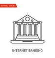 internet banking icon thin line vector image vector image