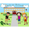 Kids going back to school vector image vector image