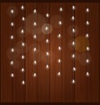 lighting garland on colorful background glowing vector image vector image