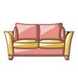 love seat sofa icon cartoon style vector image