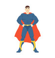 male superhero or superman man with muscular body vector image