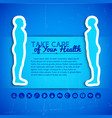 medical concept background vector image vector image