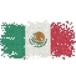 Mexicangrunge tile flag vector image vector image