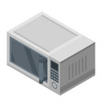modern microwave icon isometric style vector image