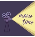 Movie projector background vector image