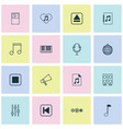 multimedia icons set with audio file audio vector image