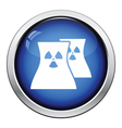 Nuclear station icon vector image vector image