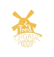Organic Food Yellow Vintage Emblem vector image vector image