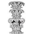 part of shaft foliated state-candelabrum vintage vector image vector image