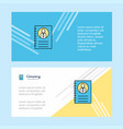 personal diary abstract corporate business banner vector image