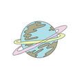 planet color vector image vector image