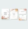 protea flower cherry blossom wedding invite card vector image vector image