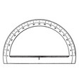protractor made of transparent plastic or glass vector image