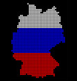 russia colors dot germany map vector image