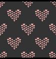 seamless mosaic heart pattern hand drawn design vector image vector image