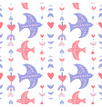 seamlesspattern with boho birds and geometric vector image
