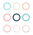 set of colorful circles in flat design vector image vector image