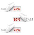Set of white sample sale stickers vector image