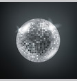 shining disco sphere card template vector image