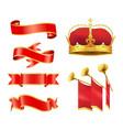 solemn event or ceremony noble heraldic symbols vector image
