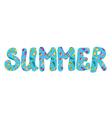 Summer banner with flip flops vector image vector image