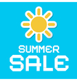 Summer Sale Blue Background vector image vector image
