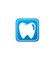 teeth care symbol in square shape for dentist vector image vector image
