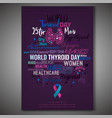 thyroid gland poster vector image vector image