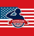 Usa veterans day concept background flat style