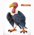 vulture eagle cartoon character funny animal 3d vector image