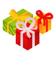 xmas gift boxes icon isometric style vector image