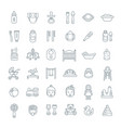 baby care flat line icons vector image