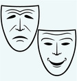 Comedy and Tragedy theatrical mask vector image