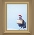 christmas post pigeon vector image