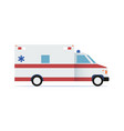 ambulance car flat design icon vector image