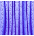 Curtain with pleats and lace ornaments vector image