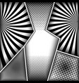 abstract monochrome comic concept vector image