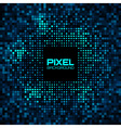 Abstract Pixel Blue - Green Bright Glow Background vector image
