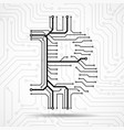 abstract sign bitcoin from circuit board vector image vector image