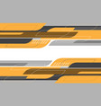 abstract yellow grey geometric curve cyber vector image vector image