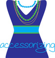 Accessorizing vector image vector image