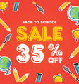 back to school sale design vector image