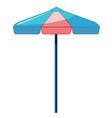 beach umbrella on white background