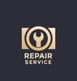 camera repair service logo template vector image
