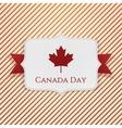 Canada Day patriotic Tag with Ribbon vector image vector image