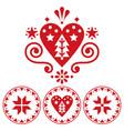 christmas scandinavian folk art design vector image vector image
