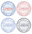 colored postmarks london express delivery round vector image vector image