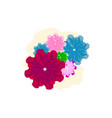 colorful watercolor flower vector image